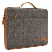 """DOMISO 14"""" Classic Laptop Sleeve with Handle Case Bag, BrownishRed"""