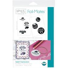 "Gina K Designs Foil-Mates Sentiments 5.5""X8.5"" 12/Pkg-Sweet Expressions, 6 Designs/2 Each"