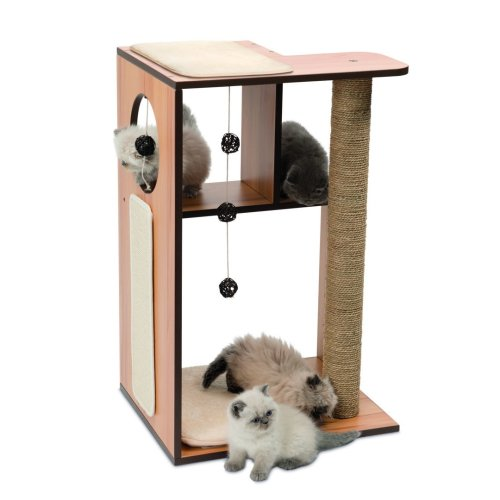 Vesper Cat Furniture V Box Large Walnut 50x40x78cm On Onbuy
