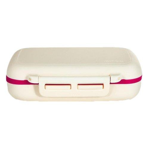 White Durable Plastic Travel Pill Organizer Box