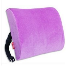 Car Cushion Foam Lumbar Support Pillow with Purple Cover