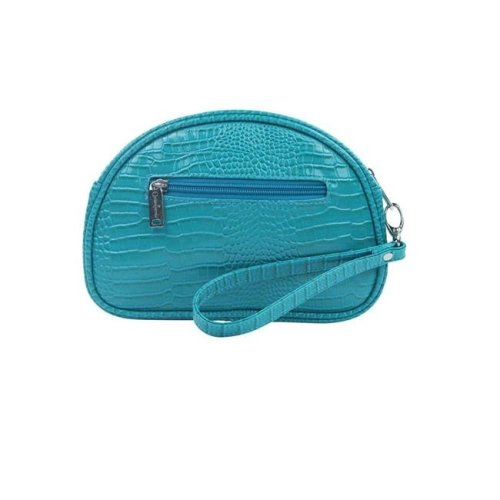 Picnic Gift 7422-BT Pina Colada-Clutch Insulated Cosmetics Bags with Removable Wristlet, Blue Turquoise