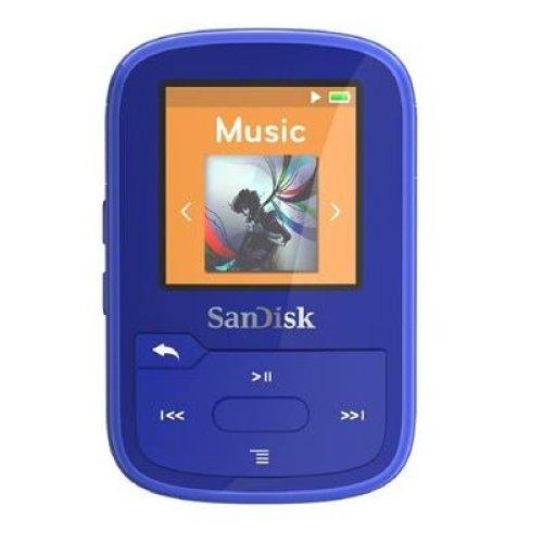 SanDisk Clip Sport Plus Wearable MP3 Player - Blue