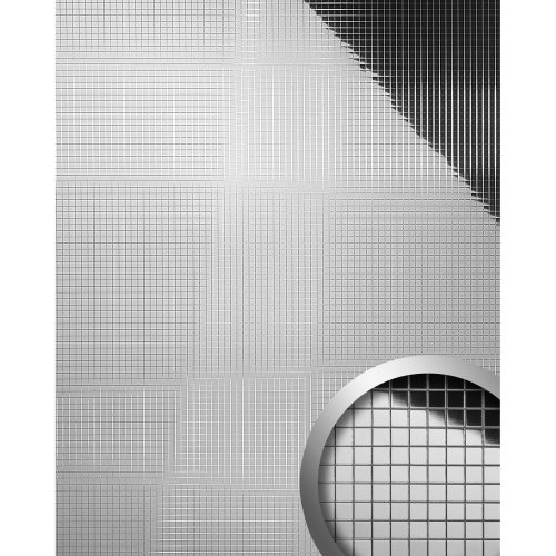 WallFace 10657 M-STYLE Wall panel eyecatch deco interior mosaic silver 0.96 sqm