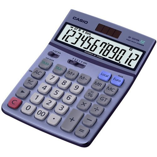 Casio Desk Calculator with Tax and Euro Calculations (DF120TER)