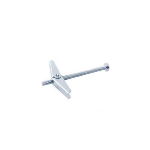 Spring Toggle - M5 x 75 10pk - Silverline Toggles Plaster Board Fixing 75mm -  silverline spring toggles 10pk plaster board fixing m5 75mm hollow
