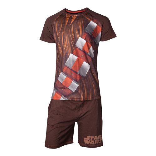 STAR WARS Chewbacca Shortama Nightwear Set, Male, Medium, Brown (SI101300STW-M)