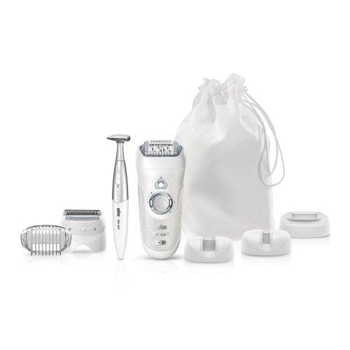 Braun Silk-Epil 7 7-561 Wet and Dry Cordless Epilator/Epilation + 8 Extras (2 Pin UK Bathroom Plug)