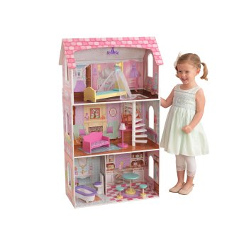 KidKraft 65179 Penelope Wooden Dolls House with furniture and accessories included, 3 storey play set for 30 cm / 12 inch dolls