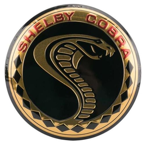Shelby 90162132-S Shelby Cobra Embossed Tin Button