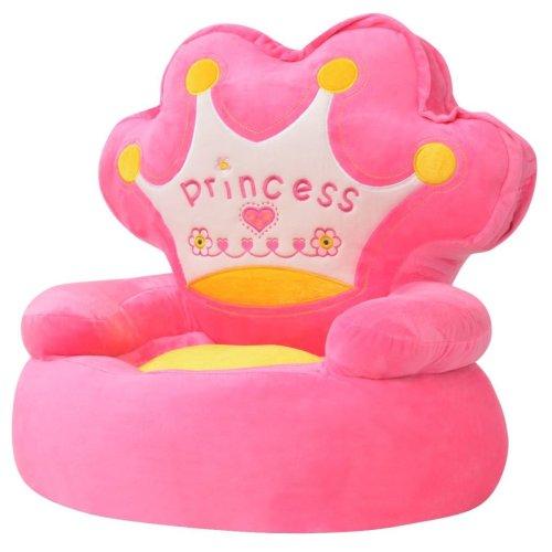 vidaXL Plush Children's Chair Princess Pink