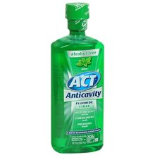 Act Anticavity Fluoride Mouthwash, Mint, Alcohol-Free, 18-Ounce Bottle (Pack of 2)