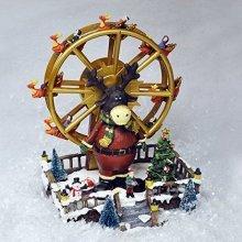 Christmas / Xmas Ferris Wheel Scene Decoration with Sound & Fibre Optic LEDs