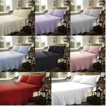 Brushed Cotton Flannelette Fitted Sheets Thermal Flannel Sheets All Sizes