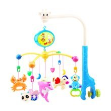 138 Contents in Chinese Rechargeable Battery Musical Soothe Dreams Mobile,Animal Blue