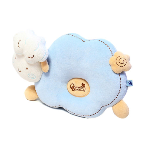 Little Cute Anti-roll Pillow Prevent Flat Head For 0-1 Years Blue Sheep