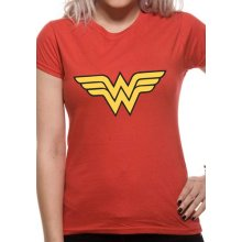 Wonder Woman -  wonder logo woman fitted tshirt red dc comics womens medium official new