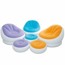 Intex 68572 Inflatable Chair with Footstool