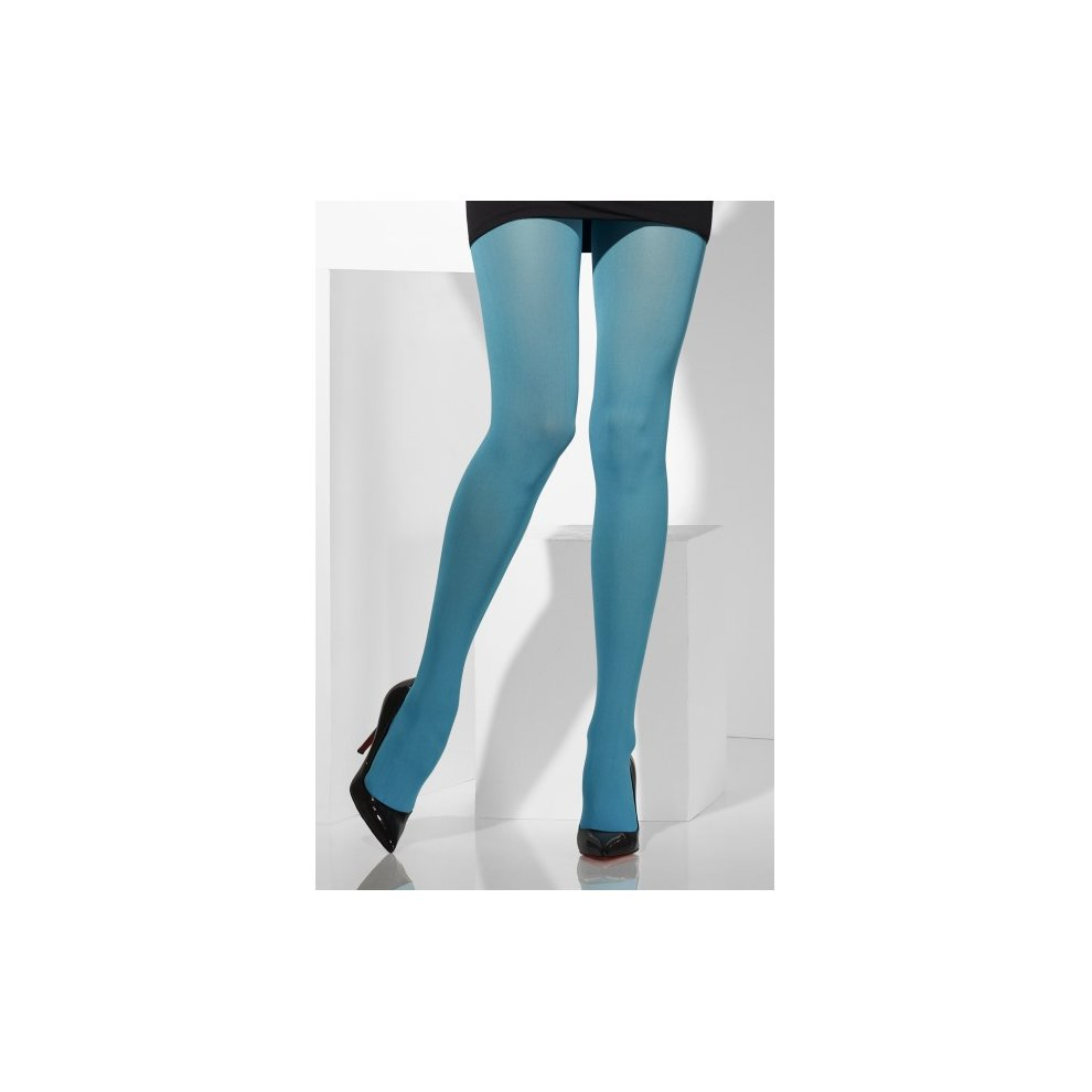 21b3bdcfda9 Blue Opaque Tights - tights opaque blue fancy dress womens ladies costume  accessory hosiery.