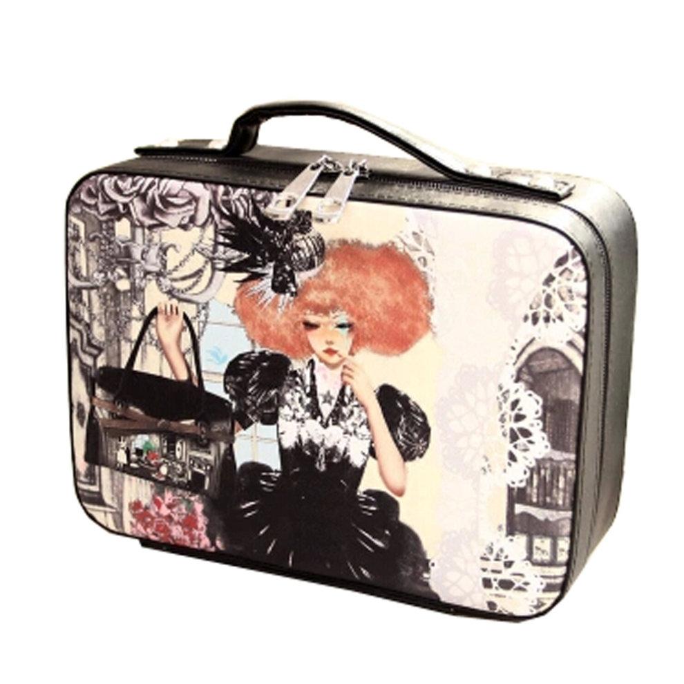 Fashion Makeup Pouches Waterproof Cosmetic Bag Makeup Cosmetic Box B