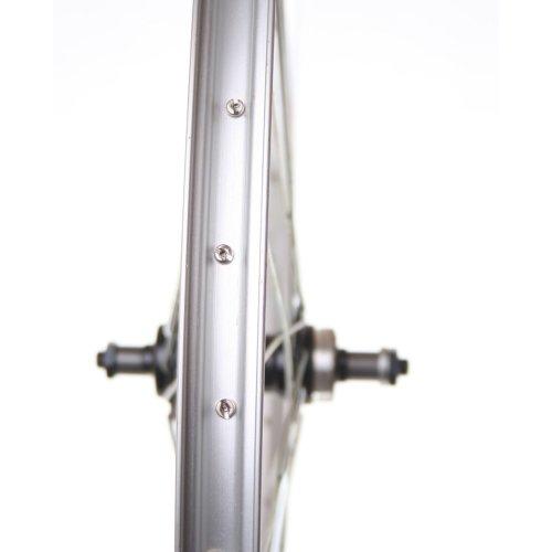 """Rear 26"""" MTB QR (Quick Release) BIKE Bicycle WHEEL - 7 SPEED COG, SKEWER, SILVER"""