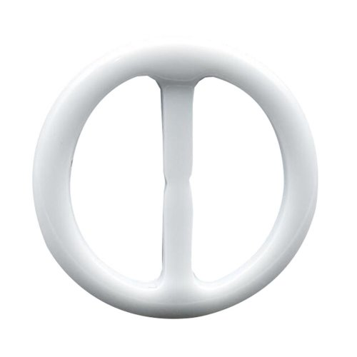 5pcs Round Scarf Ring Wrap Holder Making Charms Clothing - White