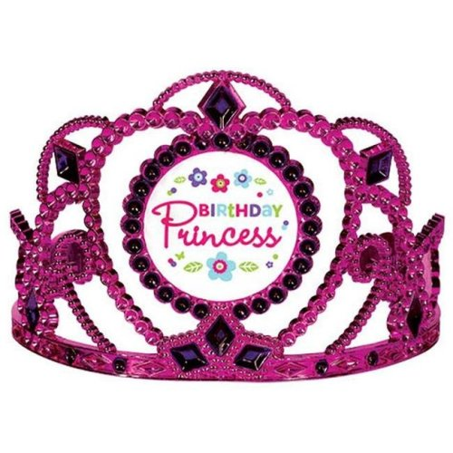 Amscan 250461 Purple & Teal Pastel Birthday Princess Tiara - Pack of 6