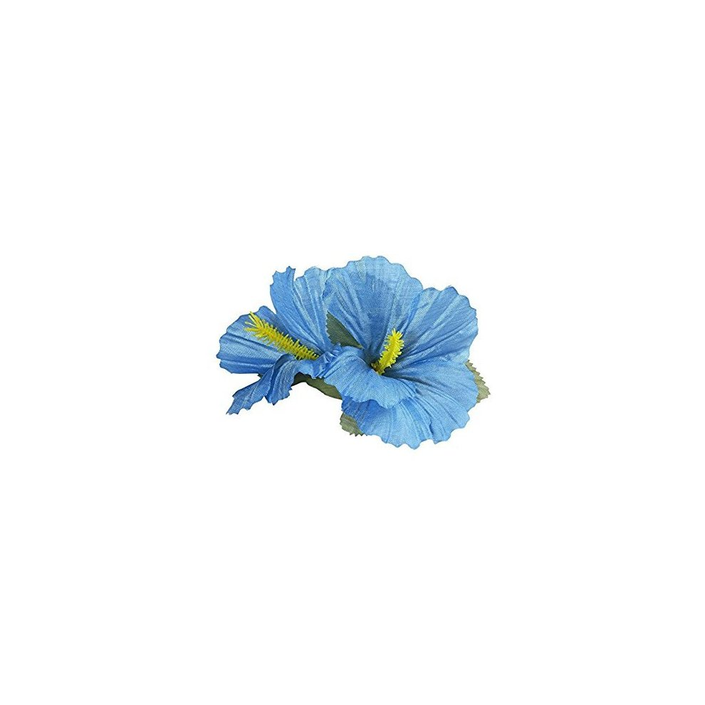 2 light blue hibiscus flowers hair clips accessory for tropical 2 light blue hibiscus flowers hair clips accessory for tropical hawiian fancy hair light blue izmirmasajfo