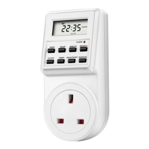 Timer Program Switch Digital LCD Power Energy Saving Plug In UK Socket