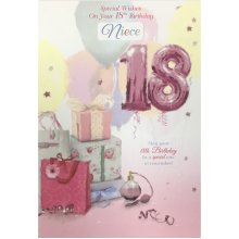 18th Birthday Card - Daughter/Sister/Great Granddaughter/Niece