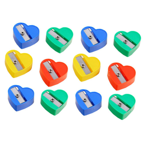 Pack of 33-School Smart Hand Held Plastic Pencil Sharpener-Assorted Colors ,Love
