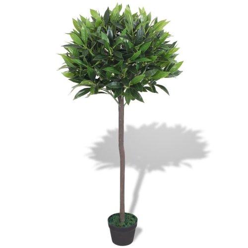 vidaXL Artificial Bay Tree Plant with Pot 125 cm Green
