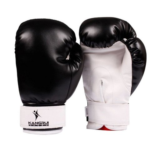Child Boxing - Kickboxing Glove Full Finger Gloves -MMA-----Black