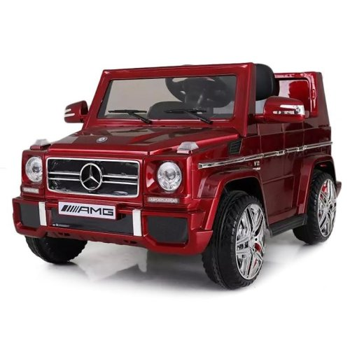 Licensed Mercedes-Benz G65 12V Kids Electric Ride On Car Four Wheels Suspension LED Lights Horn Sound MP3 Player Colour Red Ages 3-8 Years