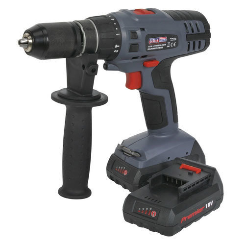 Sealey CP6018V 18V Super Torque Cordless Lithium-ion Hammer Drill 1hr Charge - 2 Batteries