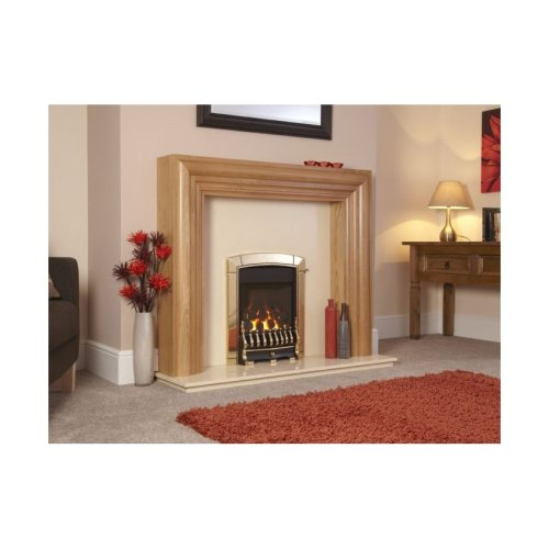 Designer Fire -Flavel FHEC11RN2 Caress HE Hearth Mounted Traditional Brass - RC