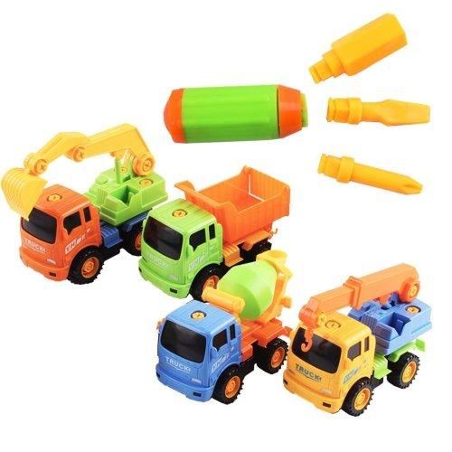Construction Trucks SET of 4 Assemble Vehicles – Builder Trucks