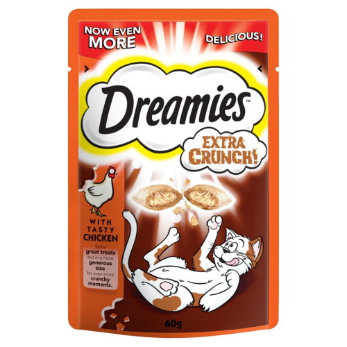 Dreamies Extra Crunch Chicken 60g (Pack of 8)