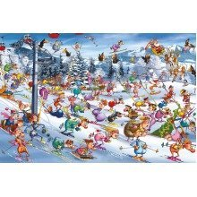 Piatnik Christmas Skiing Jigsaw Puzzle (1000 Pieces)