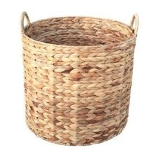 Large Water Hyacinth Round Storage Basket