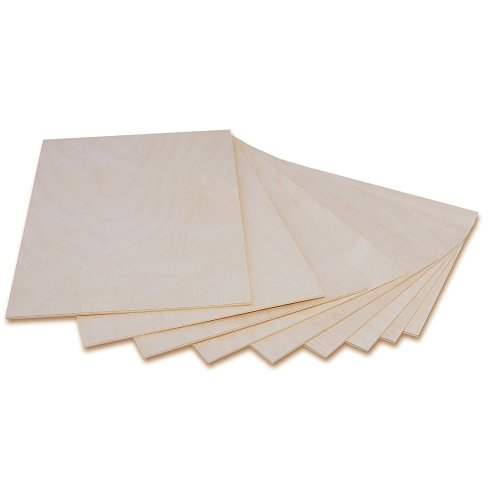 3 x A3 Plywood Sheets 3mm | 420 x 300 x 3 mm | Baltic Birch Wood Ply |  Perfect for Pyrography, Laser Cutting, CNC Router, Modelling, Fretwork,