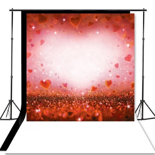 8x8ft Valentine's Day Love Heart Photography Background Studio Backdrop