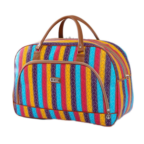 Travel Bag Luggage Tote Bags for Sports, Gym and Travel, Rainbow stripes