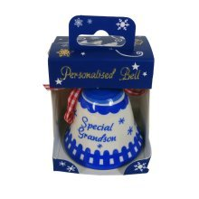 Babys First Christmas Bell Blue