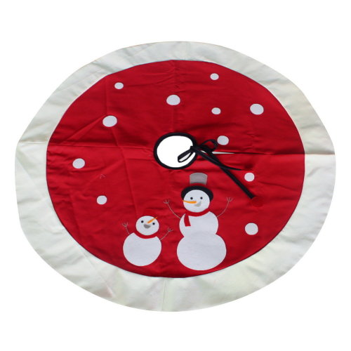 Indoor Christmas Tree Skirt [Happy Snowman] Home Decor Tree Skirt