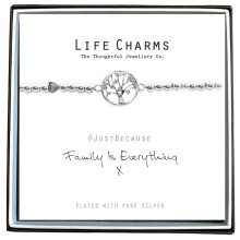 Family is Everything Bracelet -Silver Plated beaded stretch Bracelet