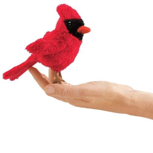 Finger Puppet - Folkmanis - Mini Cardinal New Animals Soft Doll Plush Toys 2743