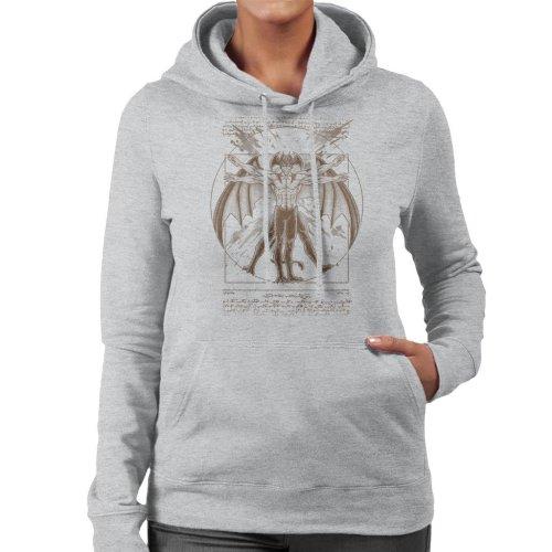 (XX-Large, Heather Grey) Vitruvian Devil Devilman Crybaby Women's Hooded Sweatshirt