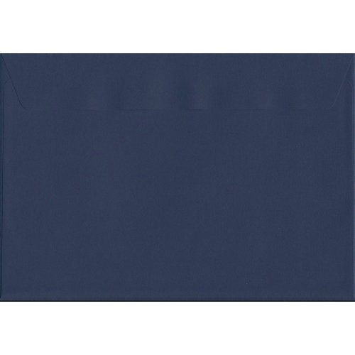 Oxford Blue Peel/Seal C4/A4 Coloured Blue Envelopes. 120gsm Luxury FSC Certified Paper. 229mm x 324mm. Wallet Style Envelope.