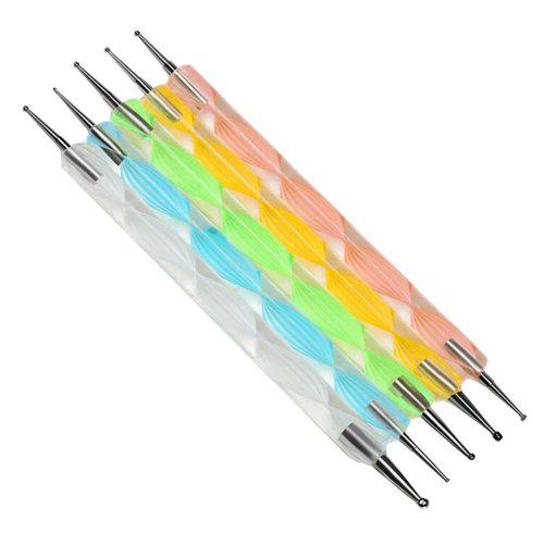 5 PCS Dotting Tool Toe Nail Art Pens Nail Brush Nail Art Tools Nail Supply Decal